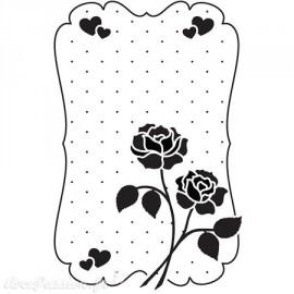 Classeur gaufrage fond roses et coeurs Nellie Snellen