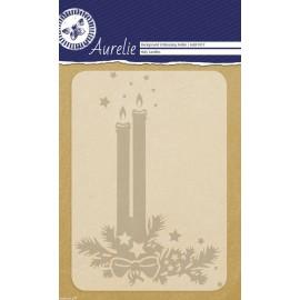 Classeur gaufrage bougies de noël 1p