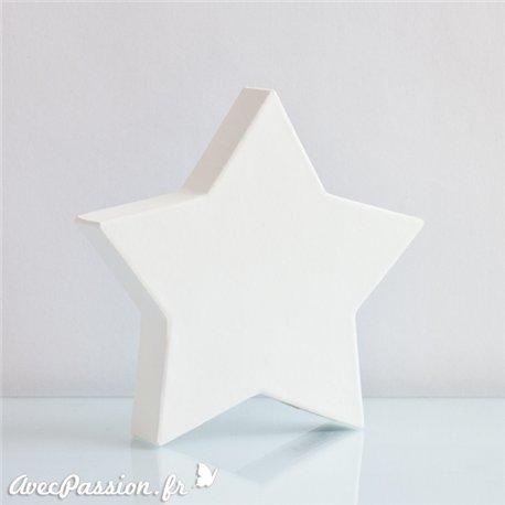 étoile pleine blanche en décopatch 19 cm