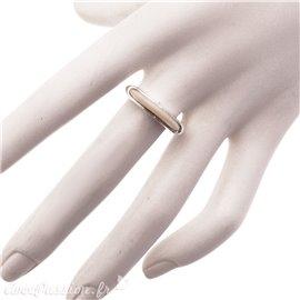 Bague Ubu taille 54 à composer anneau ellipse couleur ivoire argent -