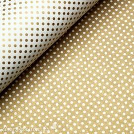 Papier tassotti motifs recto verso fond doré ou pois doré