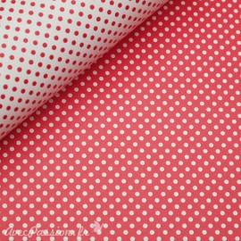 Papier tassotti motifs recto verso fond rouge ou pois rouge