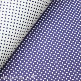 Papier tassotti motifs recto verso fond bleu ou pois bleu