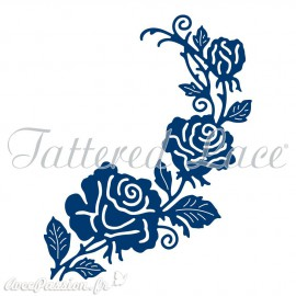 Dies découpe gaufrage matrice Tattered Lace fleurs roses