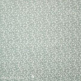 Papier fantaisie liane vert pastel et blanc