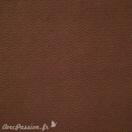 Papier fantaisie marron chevrons