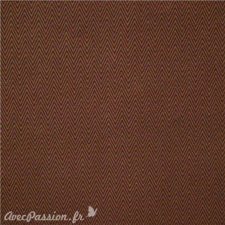 Papier fantaisie marron chevrons