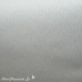 Papier simili cuir toilé métallique argent