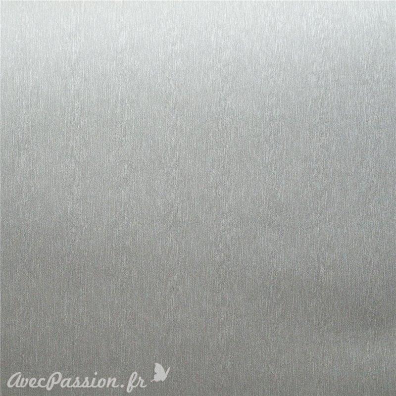 cartonnage papier simili cuir toil m tallique argent grand format. Black Bedroom Furniture Sets. Home Design Ideas