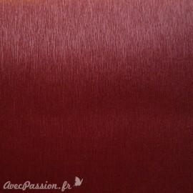 Papier simili cuir toilé métallique bordeaux