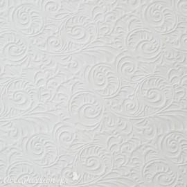 Papier fantaisie zelda arabesques blanc
