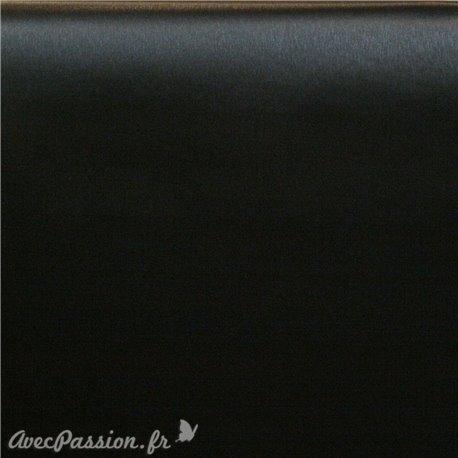 Papier simili cuir toilé métallique noir 53x70cm