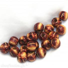 perle fantaisie en bois 6mm