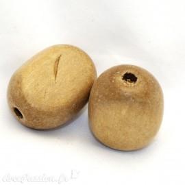 perle fantaisie en bois ronde 20mm
