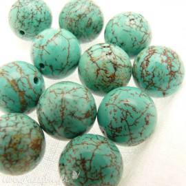 perle fantaisie turquoise 1cm