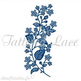 Dies découpe gaufrage matrice Tattered Lace fleurs branche de fleurs
