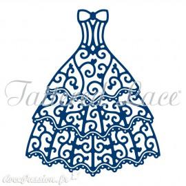 Dies découpe gaufrage matrice Tattered Lace robe de soirée