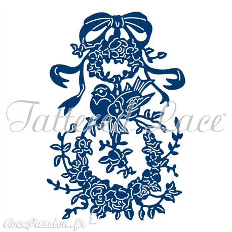 Dies découpe gaufrage matrice Tattered Lace nid d'amour