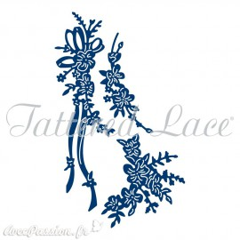 Dies découpe gaufrage matrice Tattered Lace branche fleurie