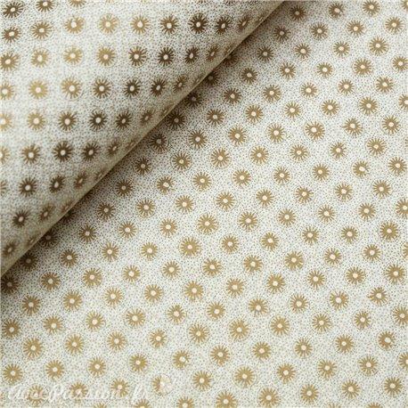 Papier tassotti motifs fleurs dorées