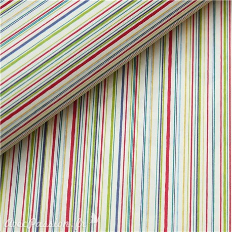 Papier tassotti motifs rayures multicolores