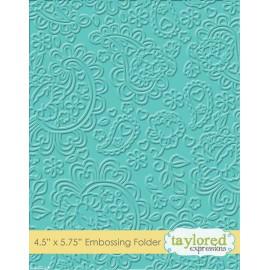 Classeur gaufrage embossage motifs cashmir taylored expressions 1p