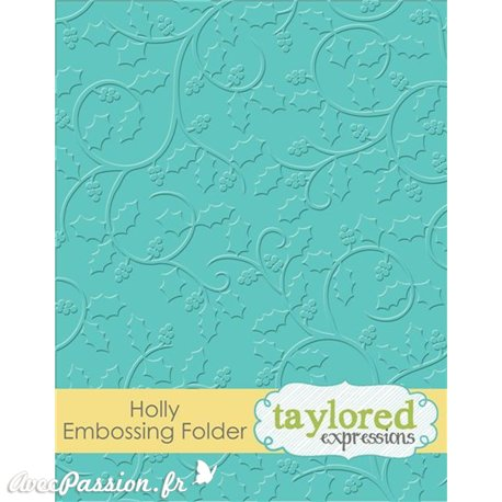 Classeur gaufrage embossage branches de houx taylored expressions 1p