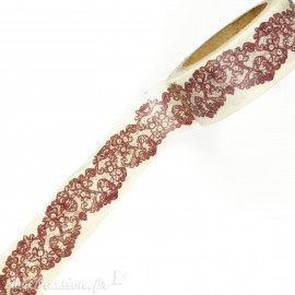 Masking tape shabby dentelle marron papier adhésif washi
