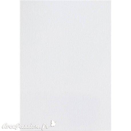 Papier pour carte et faire part blanc neige x6 200g