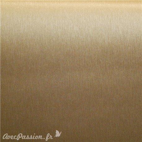 Papier simili cuir toilé métallique doré