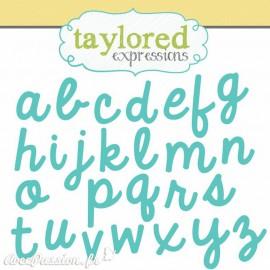 Dies découpe gaufrage alphabet minuscules Taylored expressions