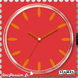 Cadran de montre Stamps peach