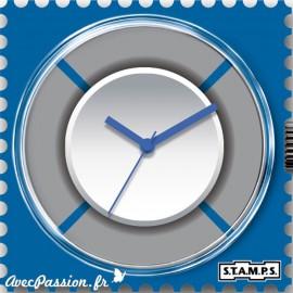 Cadran waterproof de montre Stamps blue ring
