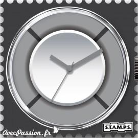 Cadran waterproof de montre Stamps grey ring