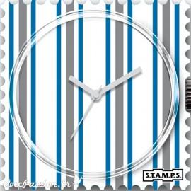 Cadran waterproof de montre Stamps white lines