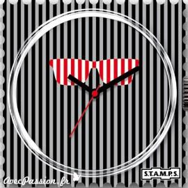 Cadran waterproof de montre Stamps red glasses