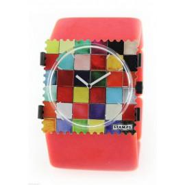 Bracelet élastique de montre Stamps belta rouge vintage