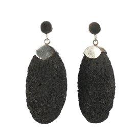 Boucles d'oreilles fantaisie noir bijou de créateur