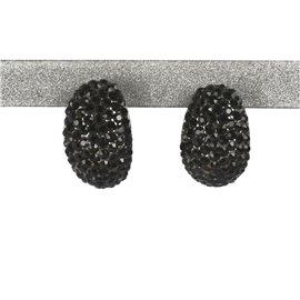 Boucles d'oreilles fantaisie noir bijou de créateur --