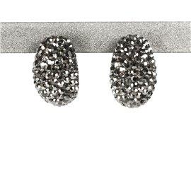 Boucles d'oreilles fantaisie argent bijou de créateur -