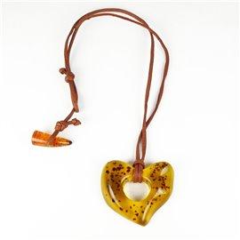 collier-fantaisie-sobral-lien-de-cuir-marron-68-cm-coeur-ambre-bijou-createur-sobral-ref-00607