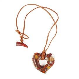 collier-fantaisie-sobral-lien-de-cuir-marron-68-cm-coeur-inclu-bijou-createur-sobral-ref-00604