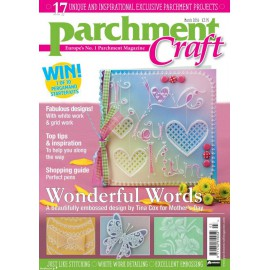 Parchment Craft magazine Pergamano mars 2016 Wonderful Words