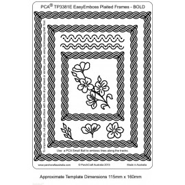 Template PCA gabarit fleurs simple cadre tressé