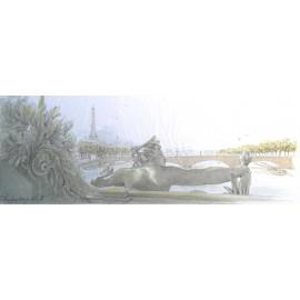 Carte postale Paris le pont alexandre III