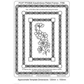 Template PCA gabarit fleurs simple cadre tressé fine