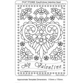 Template PCA gabarit coeur fleuri