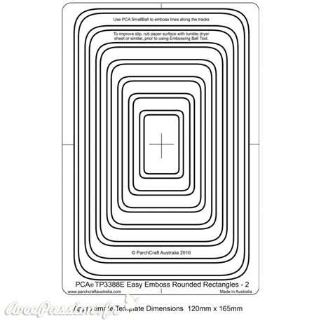 Template PCA gabarit cadre rectangle arrondi double traits