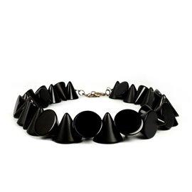 Collier fantaisie créateur Sobral cones noir -