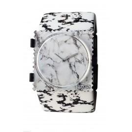 Bracelet élastique de montre Stamps belta marbré blanc noir